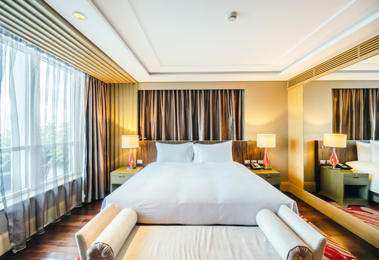 Dubai, Abu Dhabi Beautiful luxury bedroom interior decoration in Hotel